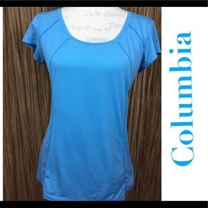 Columbia Omni-Freeze Zero Blue Active Shirt Size M